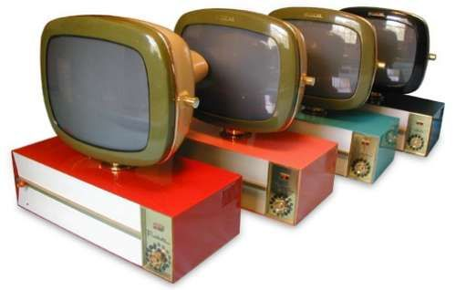 Telstar Predicta TV's (modern TVs with atomic style) -- Beautiful! I want one for my bedroom.