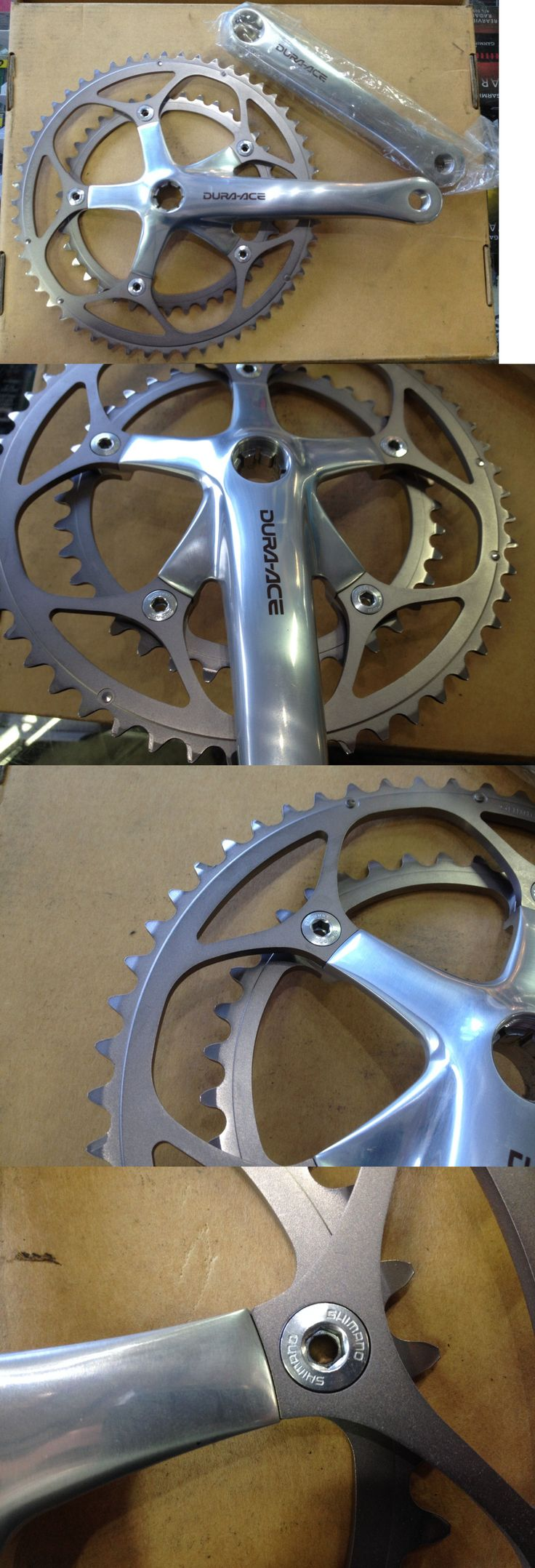 Vintage Bicycle Parts 56197: New Nos Shimano Dura Ace Fc-7700 170Mm Crankset Cranks BUY IT NOW ONLY: $370.0