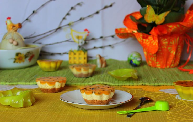 Passion fruit pastries with white chocolate