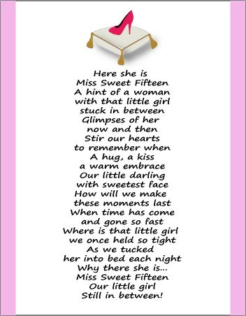 quinceanera poem..For our American friends