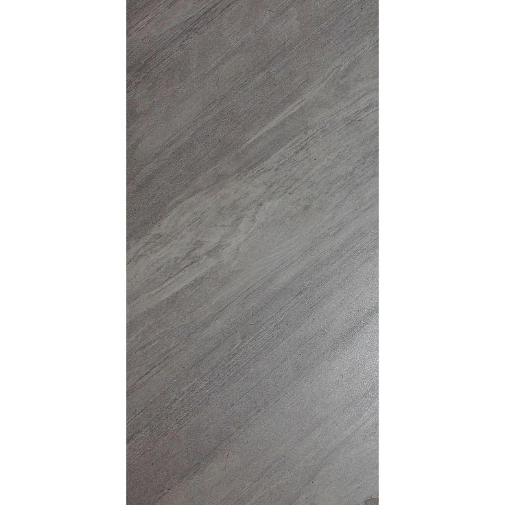 Shop Floors 2000 7 Pack Galaxy Grigio Glazed Porcelain Floor Tile Common 12 In X 24 In Actual