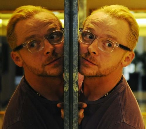 """Simon Pegg - Actor Simon Pegg poses for a photograph at a hotel in Sydney, Wednesday, July 17, 2013. Pegg is in Australia to promote the film """"The World's End"""". (AAP Image/Mick Tsikas)"""