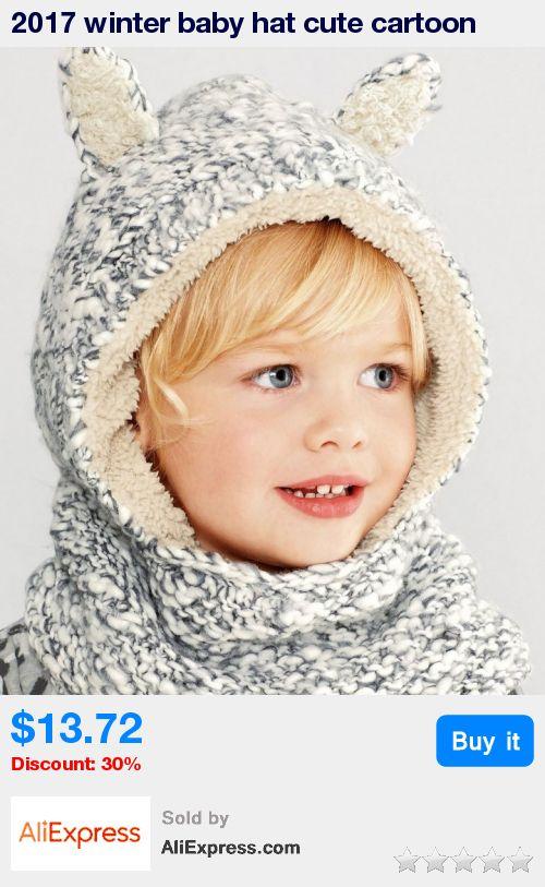 2017 winter baby hat cute cartoon rabbit ear woolen crochet hat kids winter hats girls warm fleece hedging cap baby boy hat * Pub Date: 21:24 Jul 5 2017