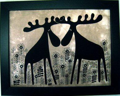 SWEDISH BATIK COLLECTION - by Heidi Lange - Hand tie dyed Batik - Viking, Moose, Swedish, Dalahorse, Rock Carving, Sami, Reindeer designs