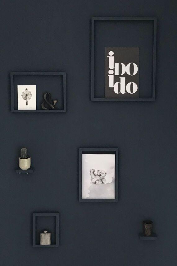 Wanddecoratie Industrieel Inspiratie Diy My Industrial Interior Blauwe Muren Muur Slaapkamerideeen