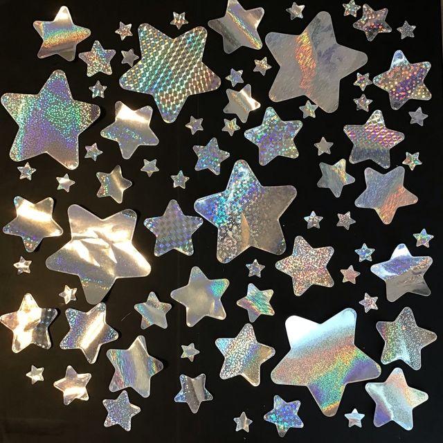 キラキラ星 カットが綺麗な星空を 幼稚園 保育園の保育の壁面飾り