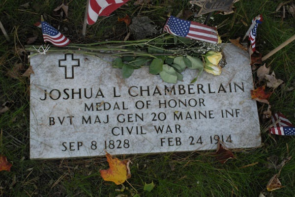 Joshua Chamberlain's Grave in Brunswick,Maine -Medal of Honor ,Rest gallant soldier,your battles are over....