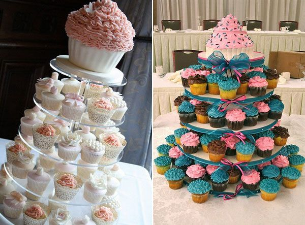 Cupcakes with a cake on top. YES! | Stylish Eve