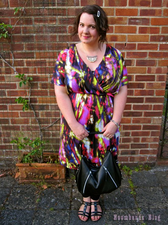"""Em from Oh, the places you'll go, wearing our """"digital love dress"""" on date night. Read the whole post here http://boombands.blogspot.com.au/2013/06/digital-love-by-harlow-for-darcy-date.html & to purchase the dress, click here http://www.harlowstore.com/dresses/digital-love-wrap-front-dress/"""