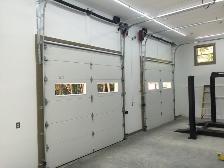 Custom Vertical High Lift With Liftmaster Jackshaft Opener.