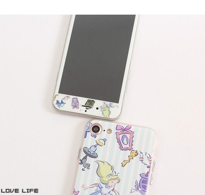不思議の国のアリスiphone8携帯カバー液晶保護セット8plusガラスフィルム7plusジャケット全方面守る6splusケースふしぎの国のアリス