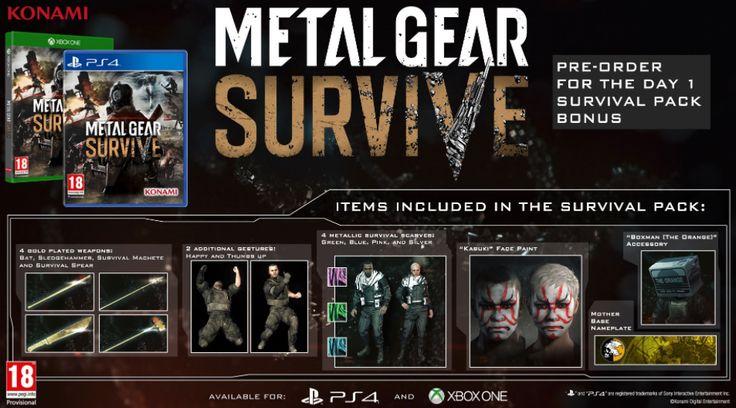 Metal Gear Sobrevivir Fecha De Lanzamiento Confirmada