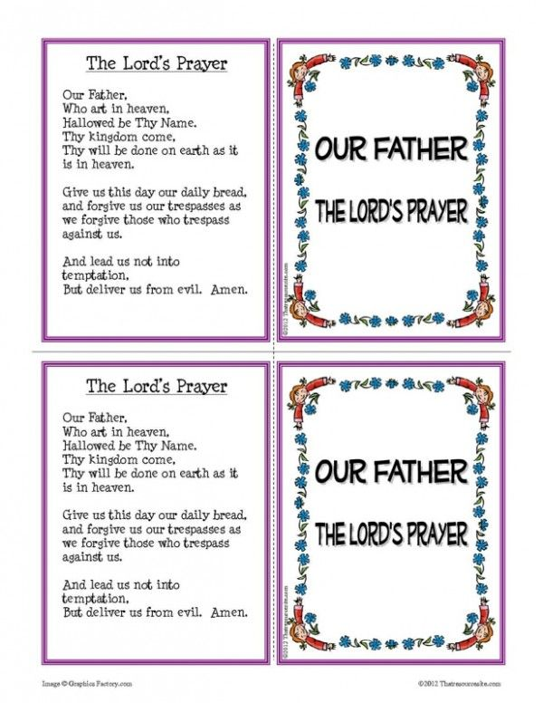 Our Father Prayer Learning Card Set | Thatresourcesite – Educational and Religious Education Resources for Teachers and Homeschoolers.