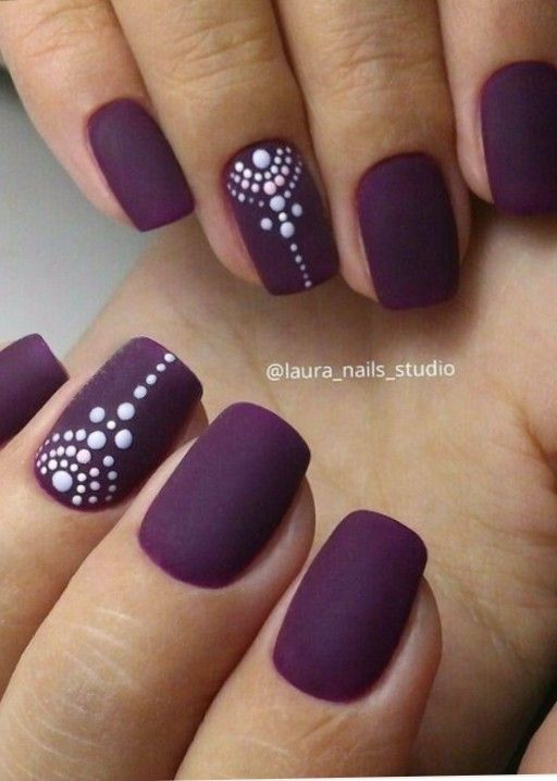 Fabulous nail colour with white nail art. - Fabulous Nail Colour With White Nail Art. Beauty, Make Up & Nails