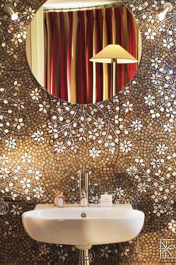 Awesome mosaic wall in a bathroom
