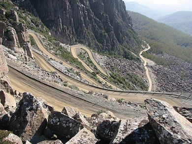 Jacob's Ladder, The amazing road up to Ben Lomond,Tasmania. Where I worked for the winter of 2013