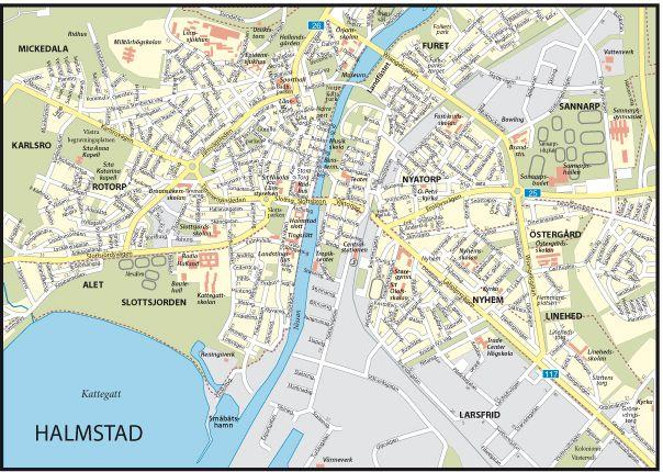 liber city / halmstad centrum (sverige, hallands län). Sissys school on right side