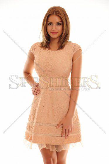 PrettyGirl Marked Cream Dress