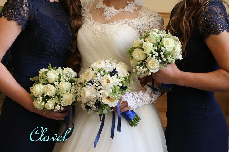 Patience, bridal bouquet, Nerine, Pistache, David Austin, blue wedding