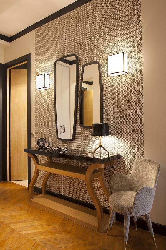 Les 25 meilleures id es de la cat gorie miroir foyer sur for Console pour vestibule