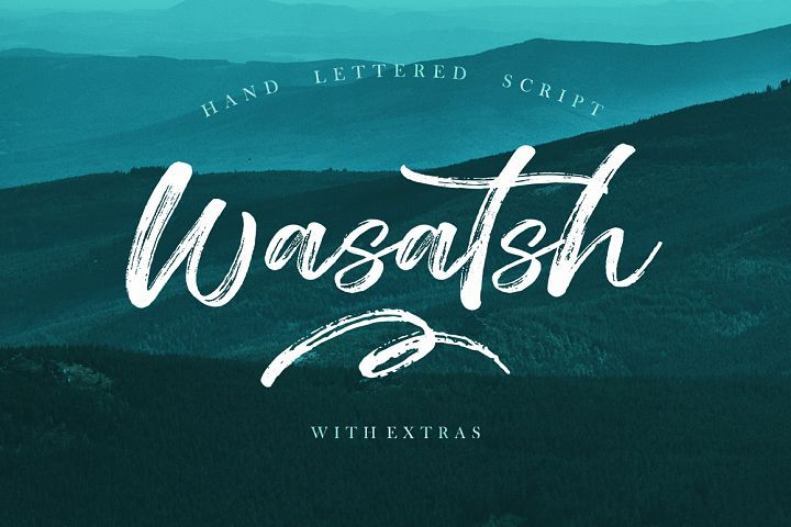 Wasatsh Brush Lettering Brush Font Brush Script Fonts
