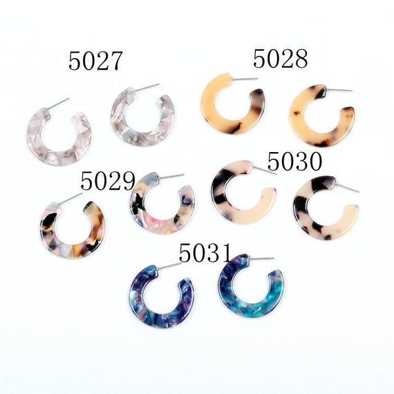 Acetate Tortoise Shell Stud Earrings Acetate Acrylic Earring Stud Post Earrings …