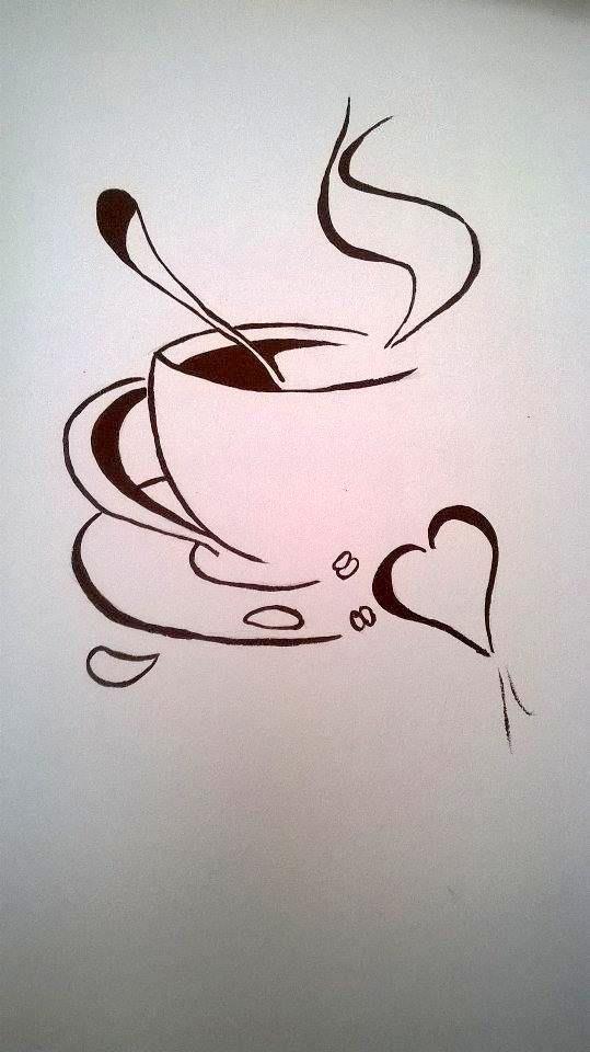 Coffee wall painting #coffeeshop #coffee #love #kitchen #painting