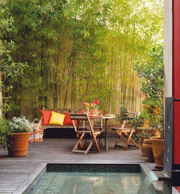 Les 25 meilleures id es de la cat gorie petits bassins de for Mini piscine jardin de ville
