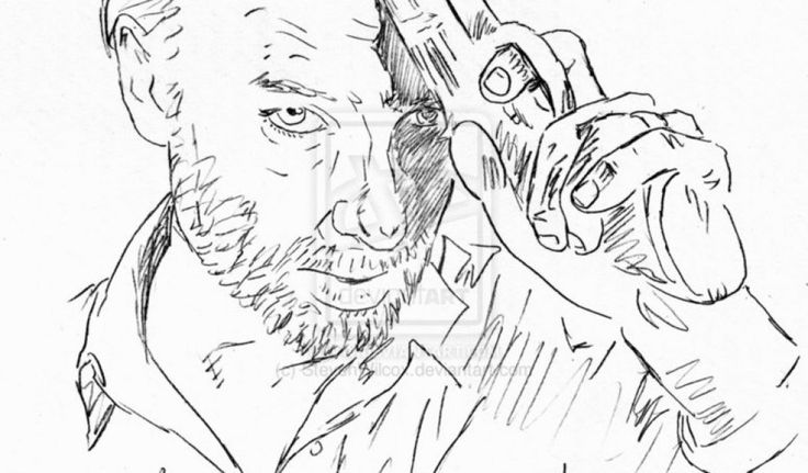 42 Best Images About Coloring Pages The Walking Dead On