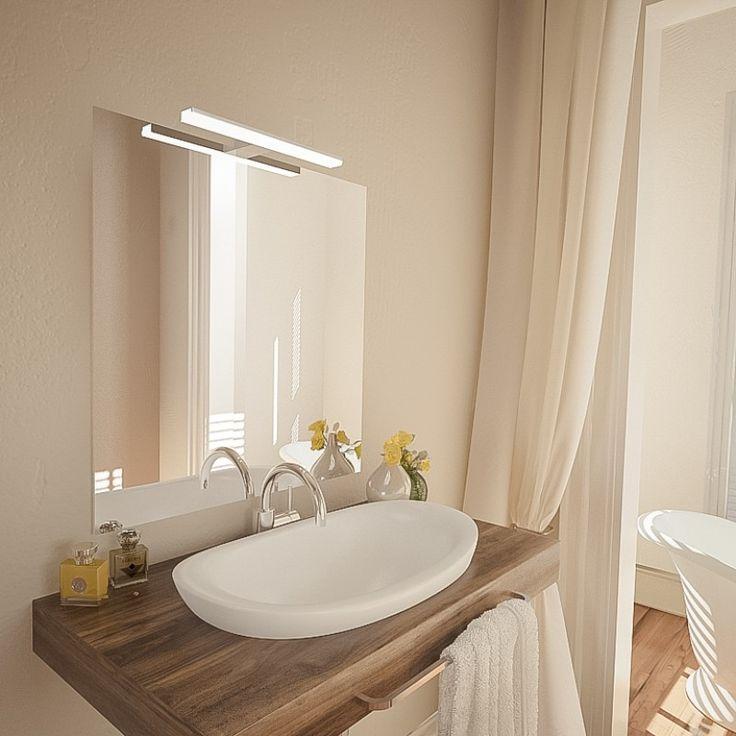 spiegel mit leuchte pandora  badezimmerspiegel