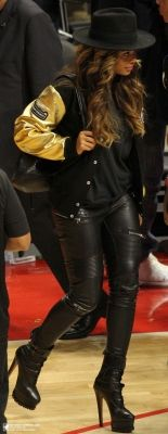 Beyonce At Clippers Vs Cavs Game 16.01.2015