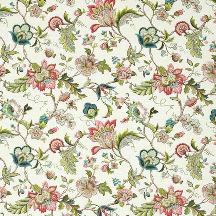 Warwick Fabrics : MALMSBURY, Colour WILLOW