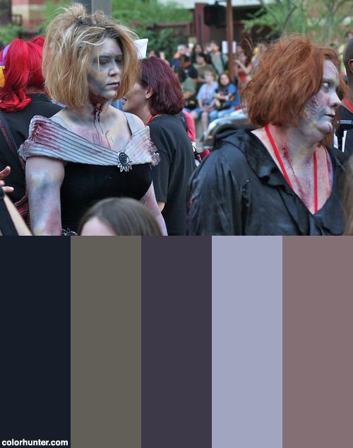 Phoenix Comicon 2011 Zombie Walk Color Scheme from colorhunter.com