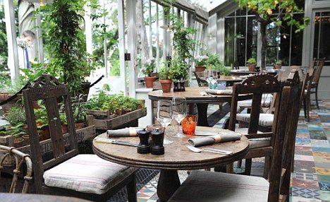 Dining room at The Pig Hotel Brockenhurst