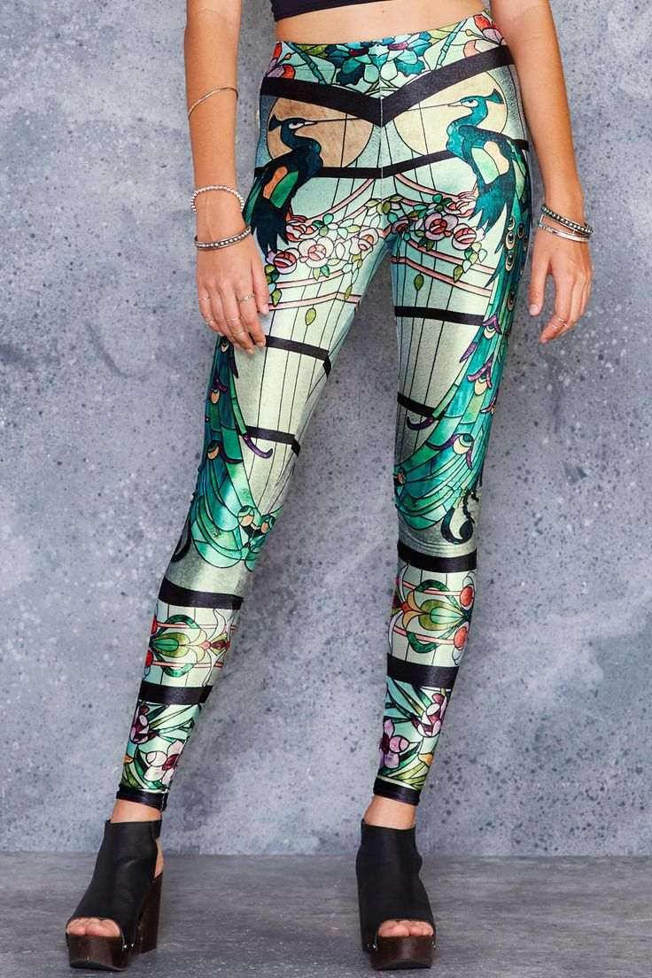 Glass Garden High Waisted Velvet Leggings - 48HR ($75AUD) by BlackMilk Clothing
