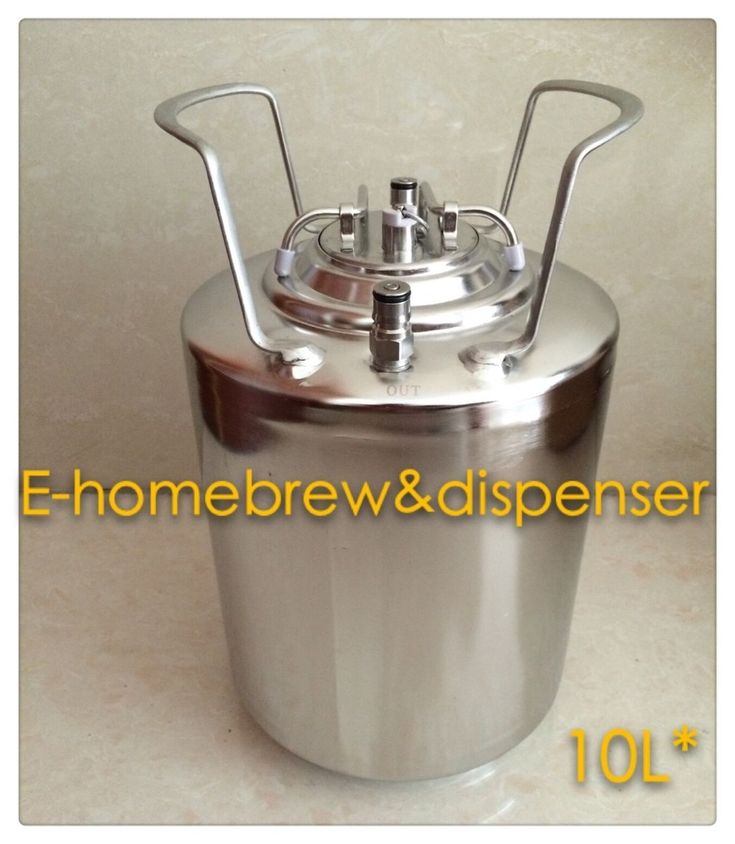 10L brand New Stainless Steel 304 Ball Lock Cornelius style  Beer Keg  , Closure Lid with Pressure Relief Valve
