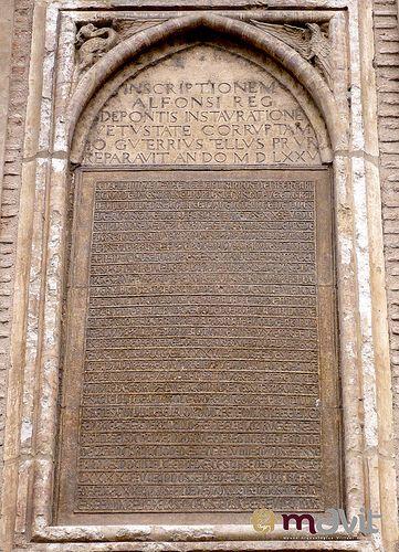 Inscripción de Alfonso X en el Puente de Alcántara. Toledo  1259 (s. XIII)  Más información sobre la lápida en:    mavit.toletho.com/ficha.php?inventario=000130 https://www.flickr.com/photos/14529174@N05/9783185084/