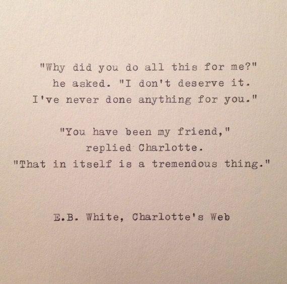E.B. White Quote Hand Typed on Vinatge Typewriter❤️