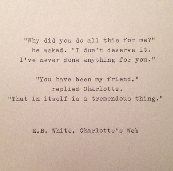 E.B. White Quote Hand Typed on Vinatge Typewriter by farmnflea
