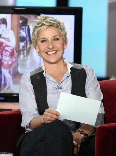 Ellen DeGeneres - funny, beautiful and confident. just amazing.
