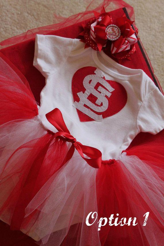 St Louis Cardinals Onesie/Tshirt Tutu Set -Must Have