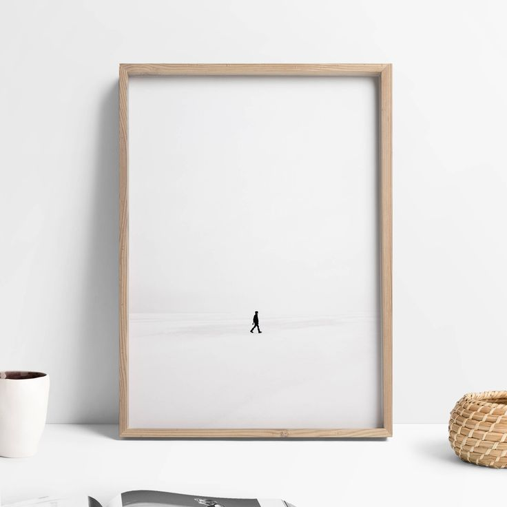 Printable Extreme Minimalistm Explorer Art Print, Minimalist Large Art Explore Decor, Scandinavian Modern Minimalist Lifestyle Printable Art | This printable explorer art print is a must have for any extreme minimalistm lover. Ideal decor for the minimalist lifestyle, this minimalist large art will look stunning in your Nordic styled home. With a black and white design, this minimal poster print will seamlessly blend into your Scandinavian gallery wall, or featured as a statement piece.