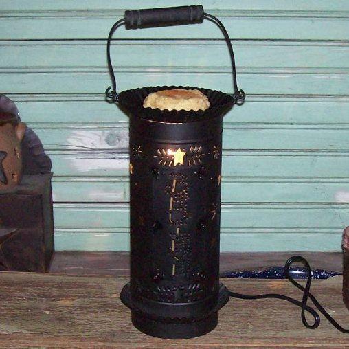 Tall Believe Tin Punch Electric Tart Burner-Electric Tart Burner,Believe Tart Warmer,Country Primitive Decor,Tart Burner,Country tart burner...