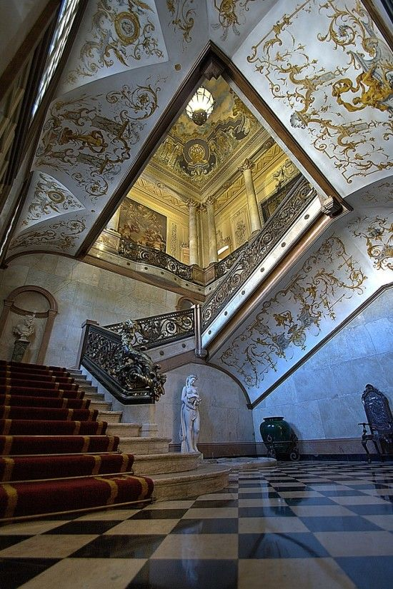 Foz Palace interior, #Lisbon, #Portugal