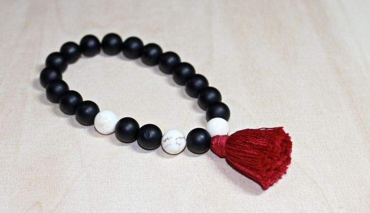 Midnight Bonfire - Two Toned Mala by NSKHandCraftedDesign on Etsy