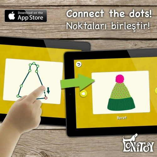 """""""Connect the dots!"""" and let's have fun!  Connect the dots and find the hidden picture...  For ages 2+  App Store: https://itunes.apple.com/us/app/connect-the-dots!/id799419045?mt=8&uo=4&at=11l8HM   Haydi! """"Noktaları birleştir!"""" ile eğlenelim!  Noktaları birleştir, resmin ne olduğunu gör...  2 Yaş üzeri çocuklarımız içindir.  App Store: https://itunes.apple.com/tr/app/connect-the-dots!/id799419045?mt=8&uo=4&at=11l8HM"""