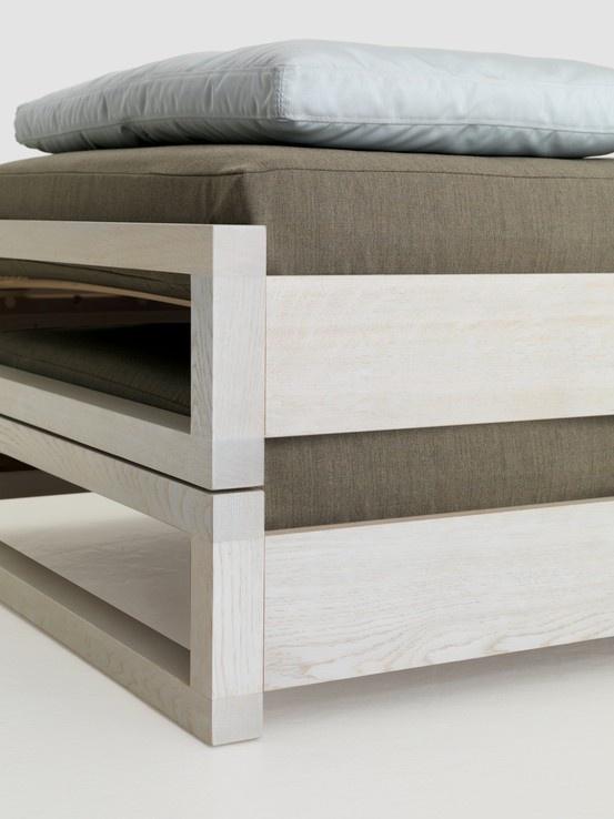 Guest Bed In White Detail By Hertel Klarhoefer For Zeitraum