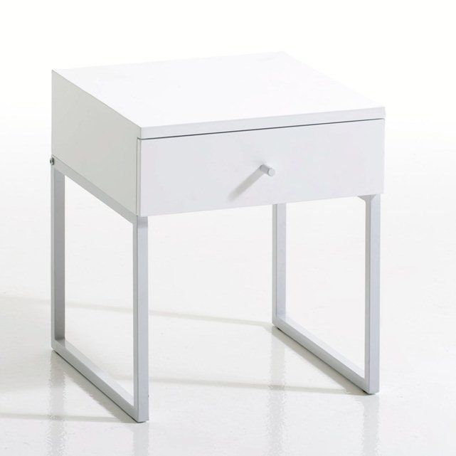 newark high gloss 1drawer bedside table la redoute interieurs
