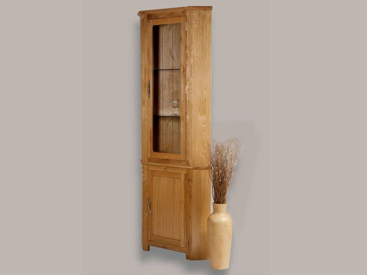 Utah Oak Corner Unit With Glass Top Shelves And Light This Stunning Display Cabinet Is Ideal If You Want A Beautiful But Only Have
