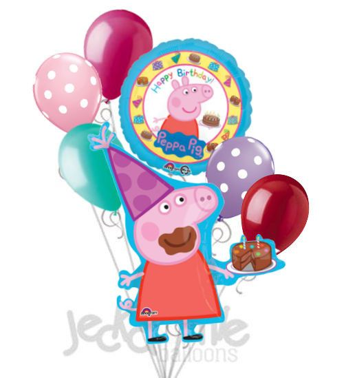 Peppa Pig Happy Birthday Balloon Bouquet